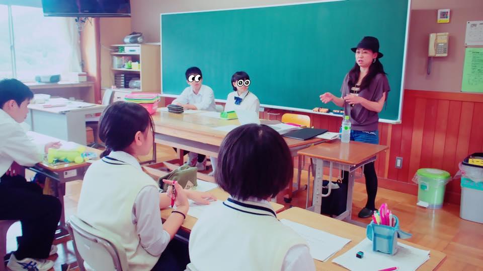 中学校のキャリア教育授業で講義をしました